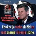 John F. Kennedy edukacija znanje i istina