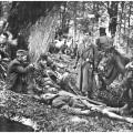 izmoždeni i bolesni partizani na sutjesci