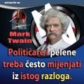 mark twain mijenjanje političara i pelena