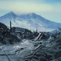 Pogled na planinu Sveta Helena nakon vulkanske erupcije 27. srpnja 1980.