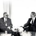 Dva prijatelja u ugodnom razgovoru cijepanja Jugoslavije u Karađorđevu.