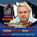 Julian Assange nobelova nagrada za mir