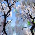 bijele wisterije u japanu