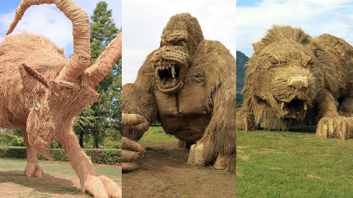 Japanske divovske skulpture od slame i Wara festival